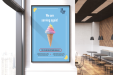 Image of a printed poster depicting an ice-cream