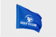 Printed golf flags with your professional design - get yours online at leafletsprinting.com