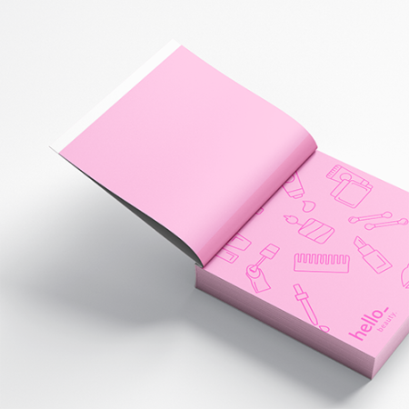 Sticky notes with softcover