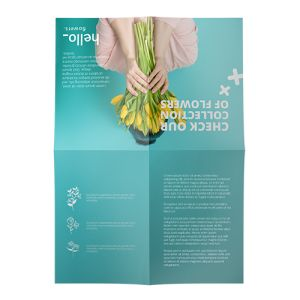 French fold leaflets  personalisation
