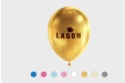Metallic coloured balloons, printed with your company name at Helloprint