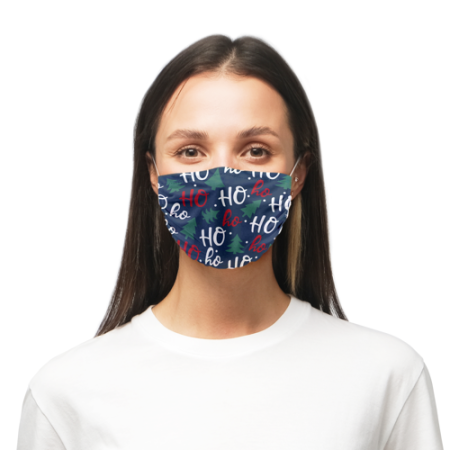 Predesigned face masks printed with a Hohoho Christmas design - Helloprint
