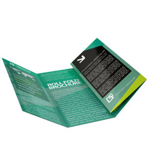 Roll fold leaflets printing