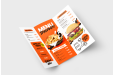 Print folded leaflets for all your needs - take away menu leaflet printed with Helloprint