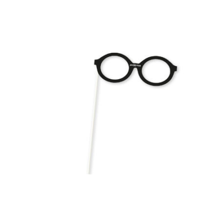 A pair of glasses on a stick party prop available at Helloprint for a cheap price