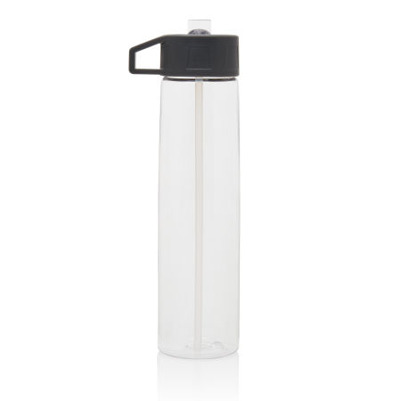Custom Tritan Bottle with Straw transparent color, available at Helloprint