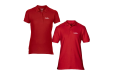 Red Classic fit Polo Shirts male and female from leafletsprinting.com
