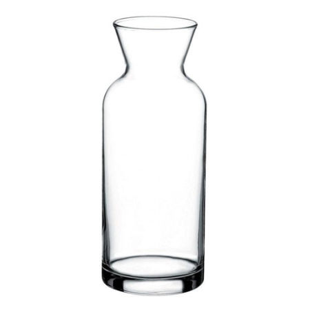A 1 litre glass jug available with a personalised logo or image printed on the side at Helloprint.