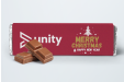 Personalised chocolate bars can really touch people's heart for Christmas