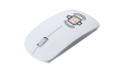 Get your white colored optical mouse uniquely designed at Lokaalensneldrukwerk.nl. Perfect for representing your brand while you work.