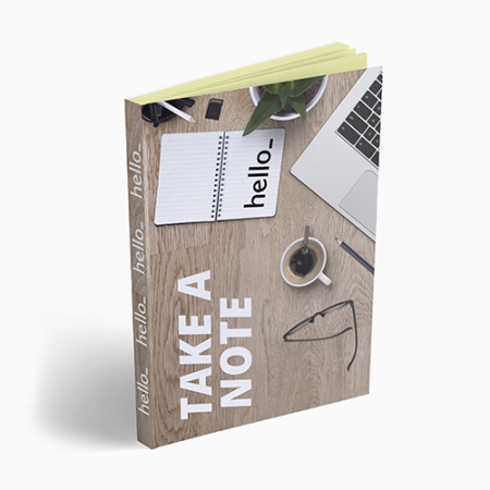 Sticky notes met softcover