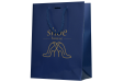 A dark blue coloured luxury paper bag available with custom printing solutions at cheap prices at Helloprint