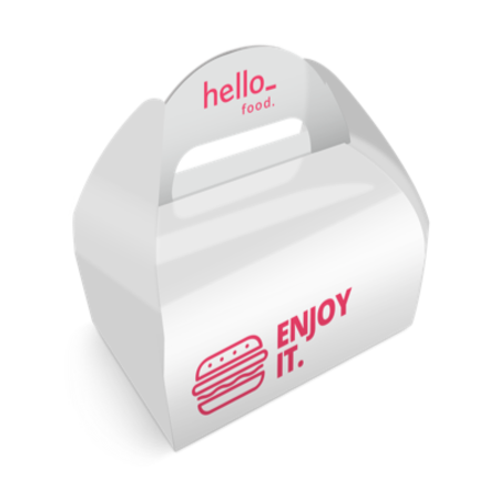 Cheap food gable box with Helloprint. Learn more about our products and easily order print online.