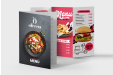 Menu cards printed with your menu, photos and logo - available online with Helloprint