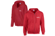Fleece Zip up Hoodies in Red with Logo Example from Helloprint