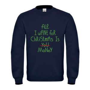 Blue Christmas Jumper All I Want For Christmas