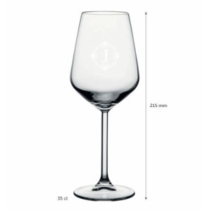 Sauvignon White Wine Glasses with logo