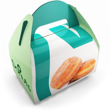 A printed food gable box available at Helloprint with customised printing options for a cheap price