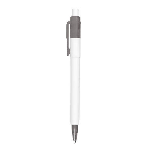 Image of a transparent pen with various colour options to maximise your logo.