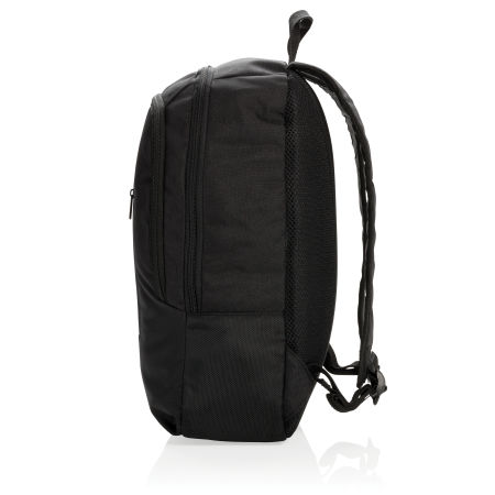 Custom Business Backpack with two zipper compartments, available at Helloprint.