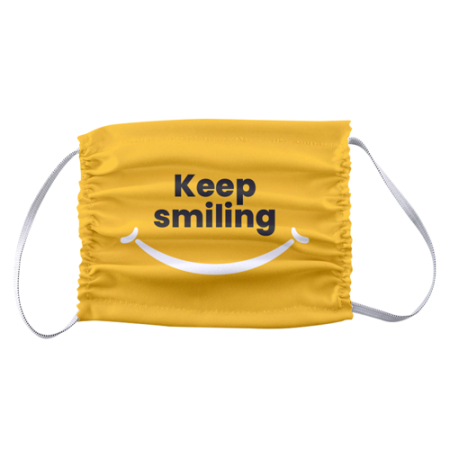 Design of a smile and text