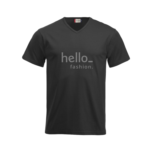 Basic V-neck T-shirts with logo