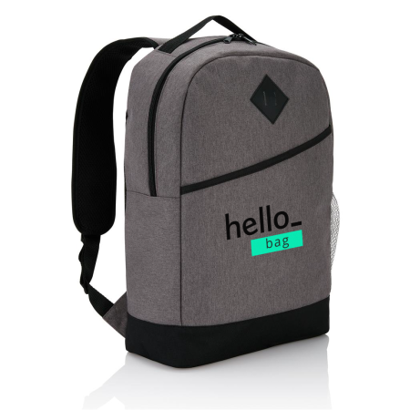 Custom Printed Modern Backpack with your Logo Displayed on the Front available at Helloprint.