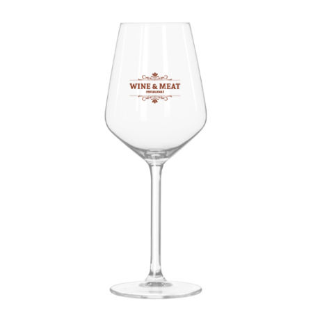 A 29 CL square wine glass available with personalised printing solutions at cheap prices at Helloprint