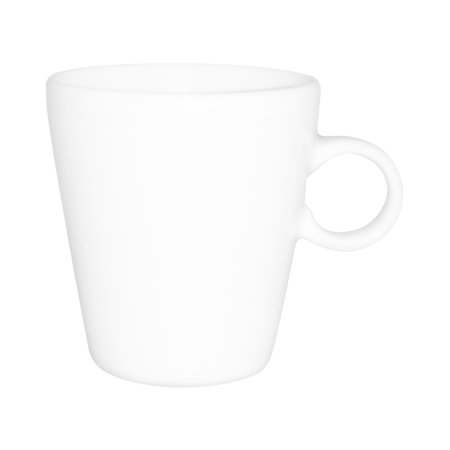 A Senseo cup available to be printed with a personalised logo or image on the side at Helloprint.