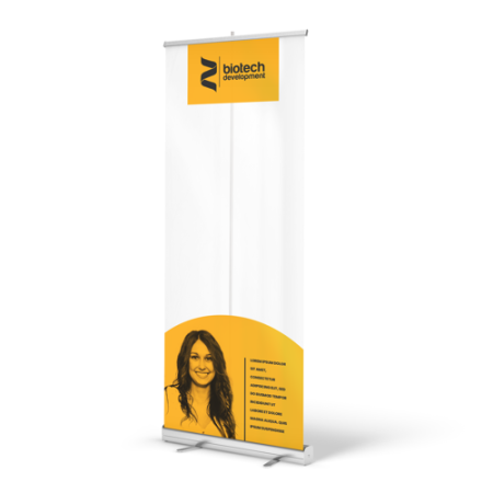 Rollerbanner mit transparenter Folie