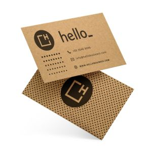 Folded business cards with Kraft Brown Paper from Helloprint