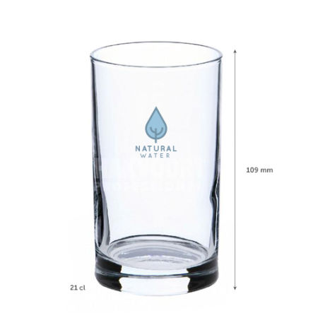 A 21 cl water glass available with a personalised logo or image printed across the outside at Helloprint