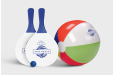 Beach games with beach balls, golf balls and more, personalised to your image with Helloprint