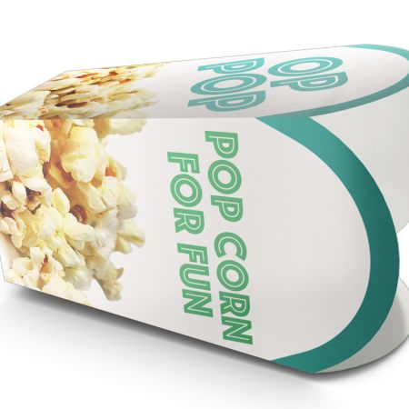 A special popcorn box printed with a popcorn photo print, to personalize on HelloprintConnect