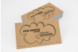 Printed Business card with ecological paper personalised at stopandprint.it