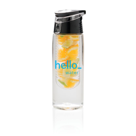 Personalised Lockable Infuser Water Bottle with Front Logo Display Option, available at Helloprint
