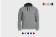 Image of grey Clique hoodie. Extra comfortable!