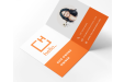 Printed folded business card available at Helloprint
