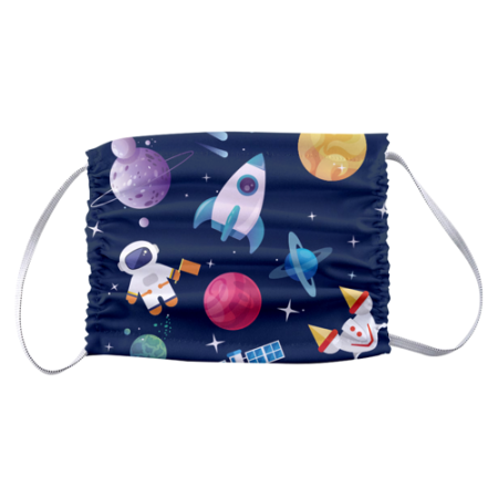 Children's Face Masks with Space Design