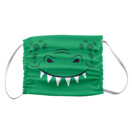 Animal design : crocodile mouth printed on children face masks available online on HelloprintConnect