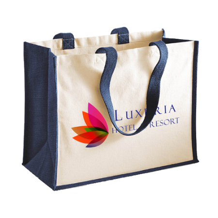 Cheap navy blue square bag with Helloprint. Learn more about our printed bag products and order print online.