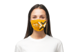Yellow custom printed face mask