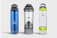 An assortment of sports bottles and shakers printed with your personalised design at HelloprintConnect