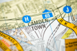 A map icon of Camden used to indicate that Helloprint offers printing solutions in Camden