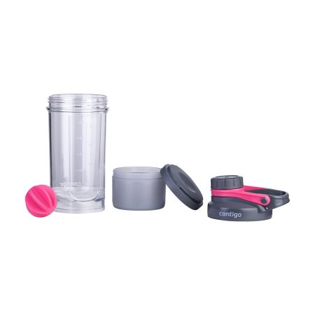 A large high quality Contigo Shake and Gi shaker bottle available at Helloprint with a custom logo and text for a cheap price.