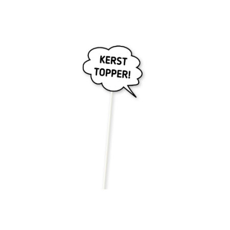Text bubble on a stick which can be personalised at Helloprint, ideal for a themed party or an event photoshoot.