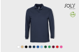 Image of long sleeve polo. Print with your logo for a great team uniform!