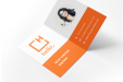Print folded business cards online at Printking