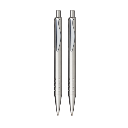 An example image of a New York writing pen available at Helloprint with a custom logo or image printed on the side.