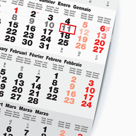 An exemplar of a printed calendar, available at HelloprintConnect with customised printing solutions for a cheap price